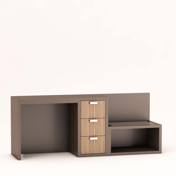 SG2016_Desk Bench Combo_Zebrano Drawers