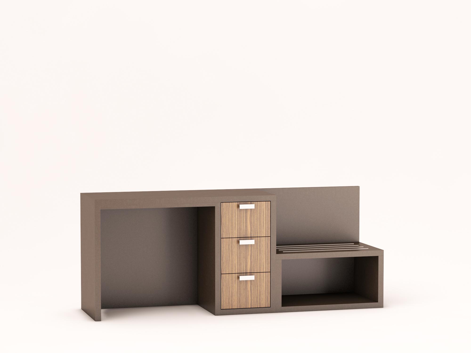 Icon Furniture Mercer Desk Dresser Bench Combo